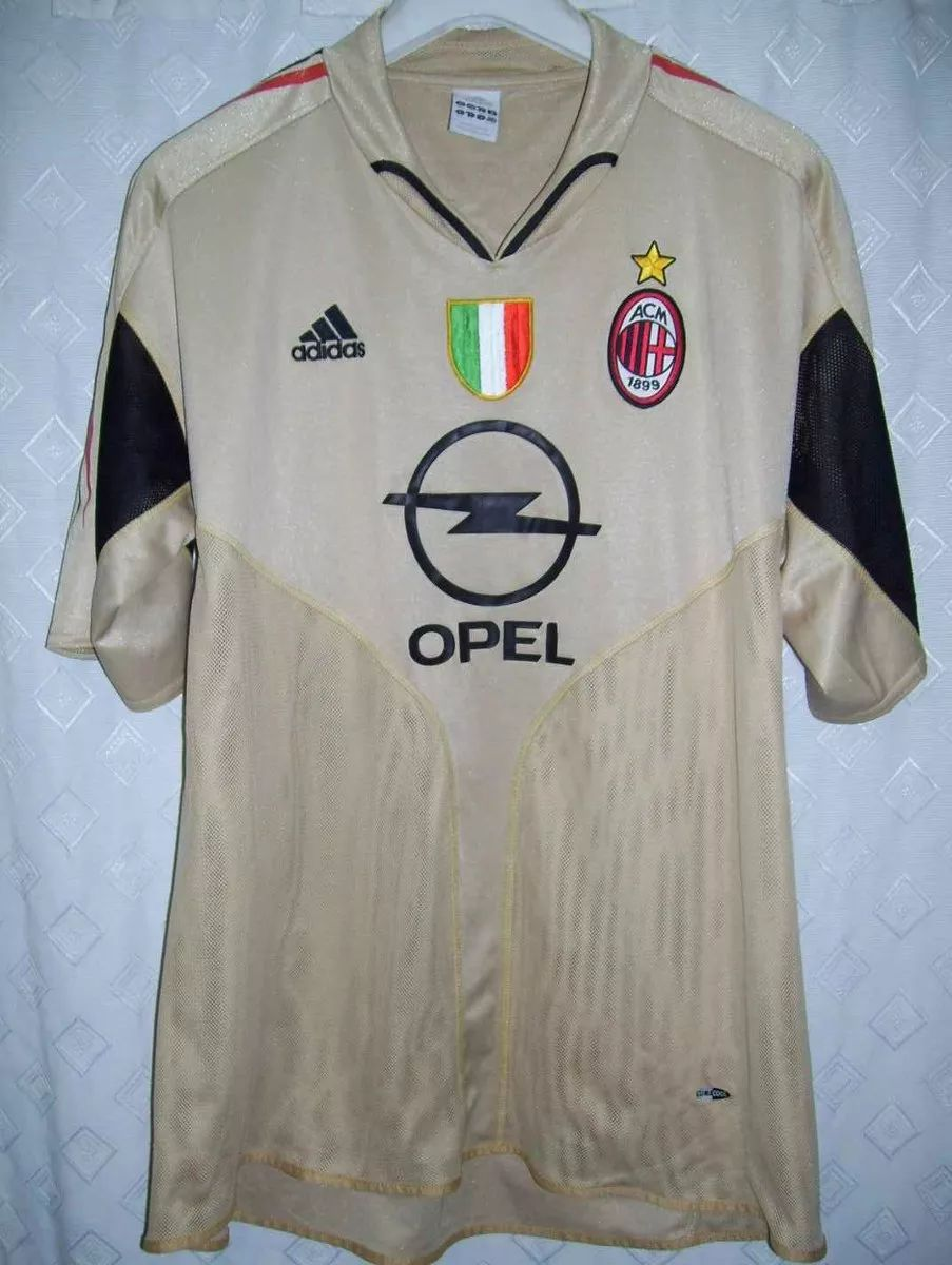 255544495 AC Milan Third camisa de futebol 2004 - 2005. Sponsored by Opel