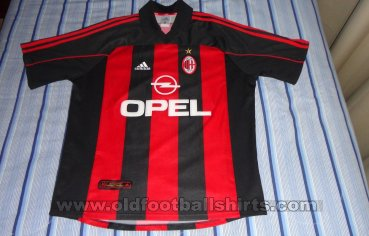 5d3956b0c AC Milan Home maglia di calcio 2000 - 2002. Sponsored by Opel