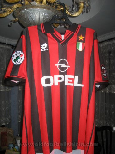 AC Milan Home football shirt 1996 - 1997
