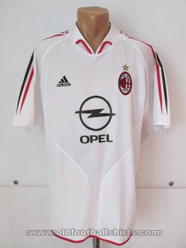 cad8e06d159e AC Milan Away Maillot de foot 2004 - 2005. Sponsored by Opel