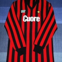 AC Milan Home football shirt 1983 - 1984 sponsored by Cuore