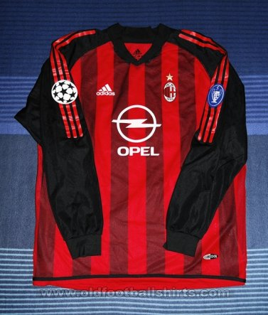 AC Milan Home Maillot de foot 2002 - 2003
