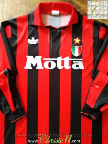 AC Milan Local Camiseta de Fútbol 1992 - 1993