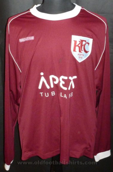 Keith FC Home football shirt 2009 - 2010