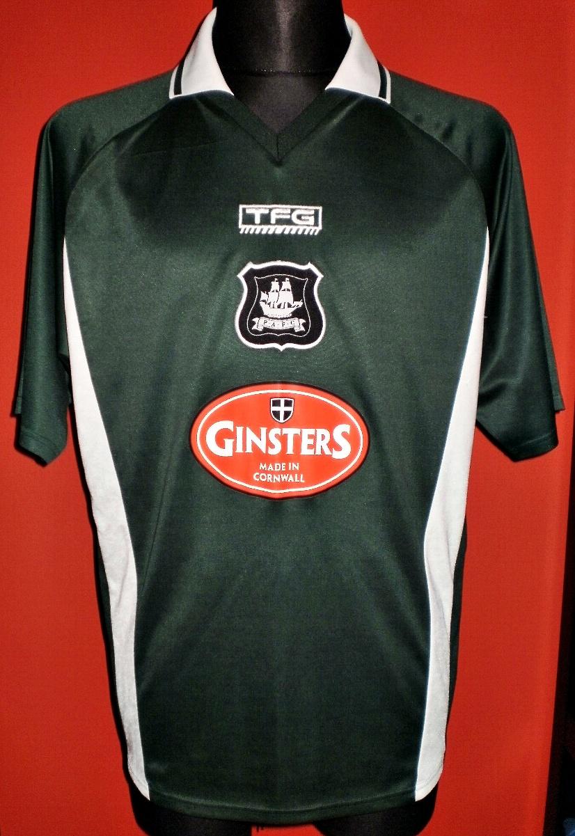 Plymouth Argyle Home Football Shirt 2003 2005 Sponsored