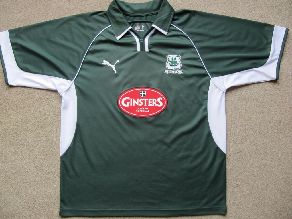 Plymouth Argyle Home Football Shirt 2005 2007 Sponsored