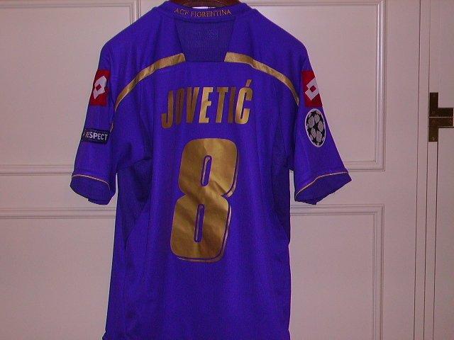 Fiorentina Home maglia di calcio 2009 - 2010. Sponsored by Toyota
