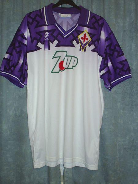 Fiorentina Away football shirt 1992 - 1993.