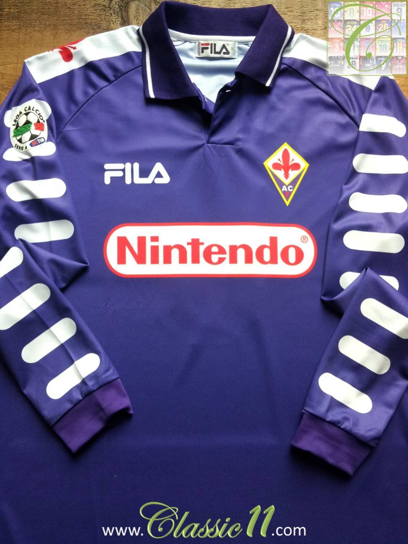 12eea0f7489 Fiorentina Home maglia di calcio 1998 - 1999.