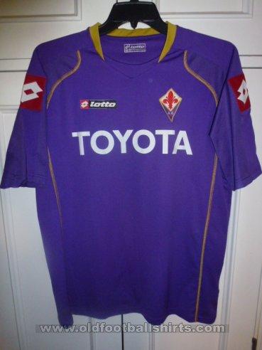 Fiorentina Home maglia di calcio 2008 - 2009.