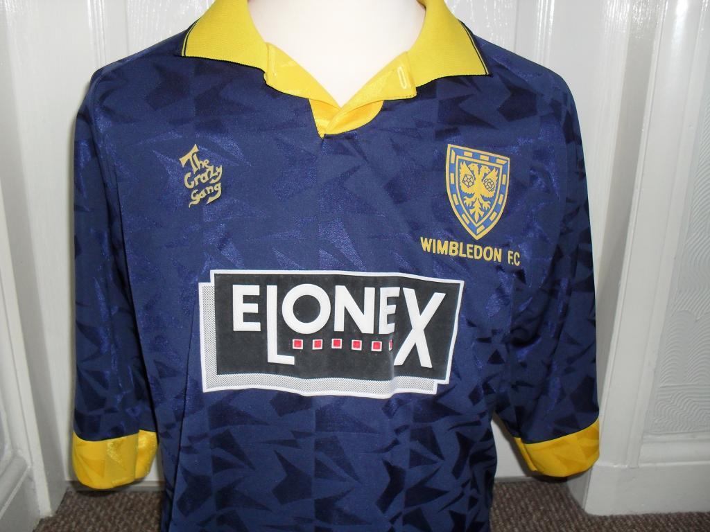 AFC Wimbledon Home maglia di calcio 1994 - 1995. Sponsored by Elonex e2da90ad6