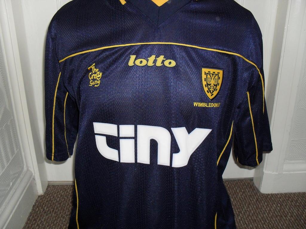 AFC Wimbledon Home Camiseta de Fútbol 1999 - 2000. Sponsored by Tiny ... d366a72eb