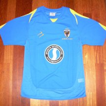 AFC Wimbledon Home baju bolasepak 2006 - 2008 sponsored by Sports Interactive