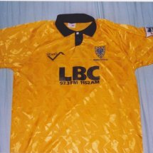 AFC Wimbledon Special Fußball-Trikots 1993 - 1994 sponsored by LBC