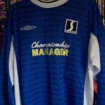 AFC Wimbledon Special baju bolasepak 2002 sponsored by Championship Manager