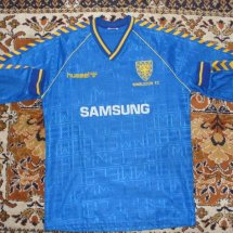 AFC Wimbledon Home baju bolasepak 1989 - 1990 sponsored by Samsung
