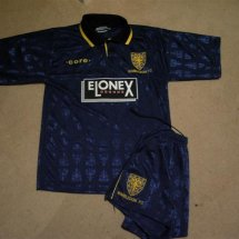 AFC Wimbledon Home baju bolasepak 1995 - 1996 sponsored by Elonex
