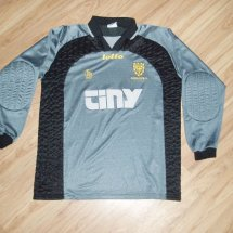 AFC Wimbledon Home baju bolasepak 1999 - 2000 sponsored by Tiny Computers