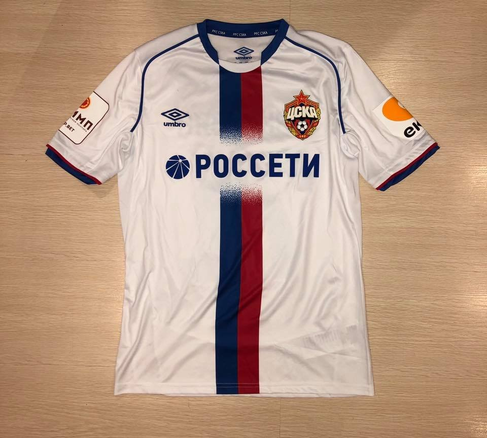 3772547d4d9 עונה חדשה CSKA Moscow Away חולצת כדורגל 2018 - 2019. Sponsored by ...