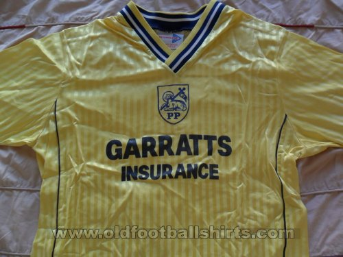 Preston North End Away voetbalshirt  1988 - 1989