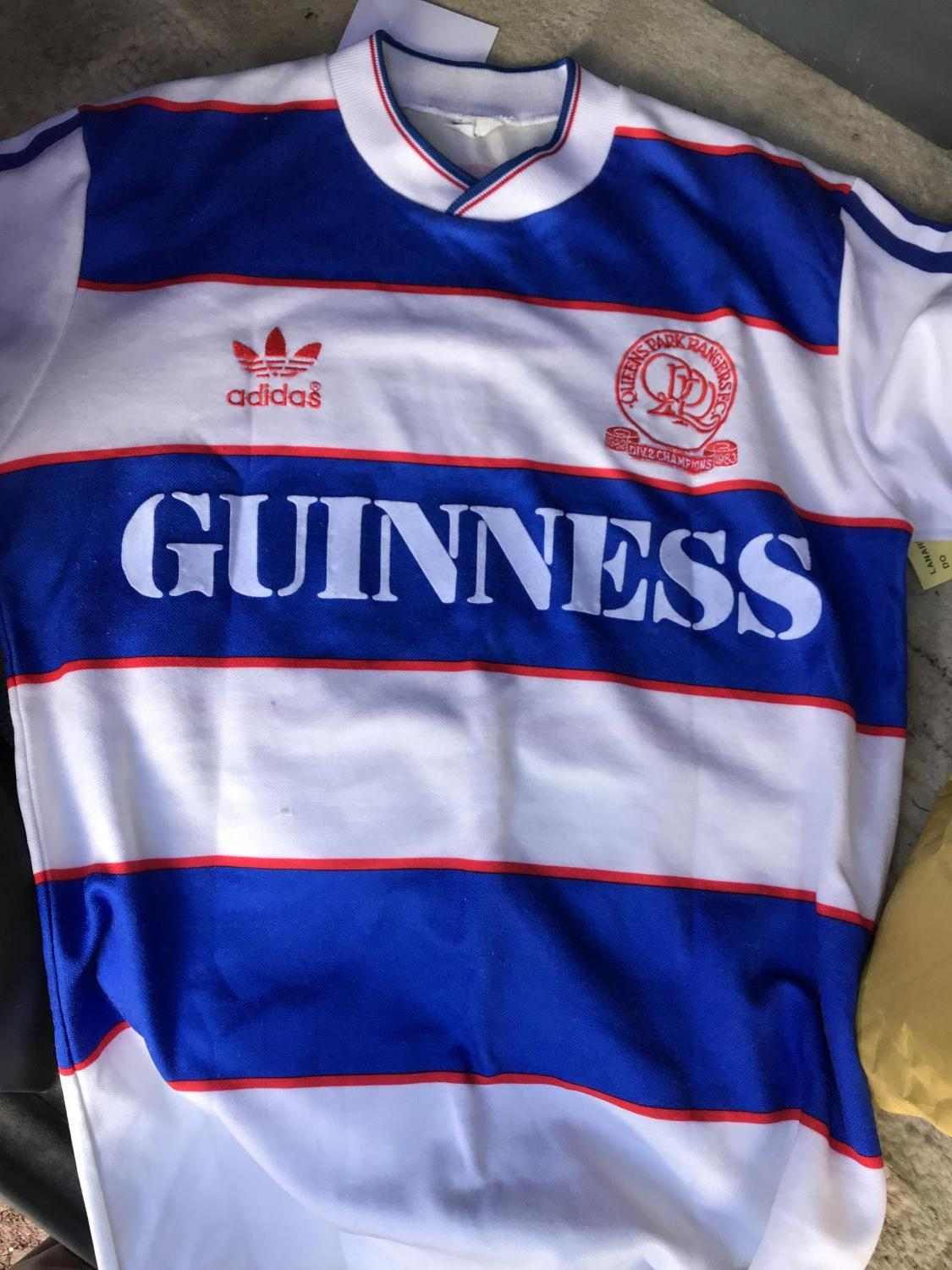 best website b0bb8 c2e95 Queens Park Rangers Home maglia di calcio 1983 - 1984 ...