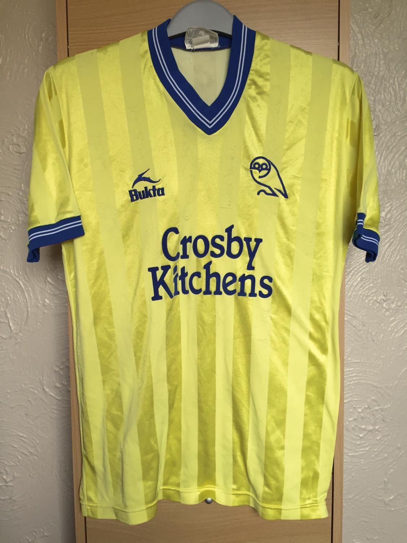 best quality fde3a 6c8cc Sheffield Wednesday Away maglia di calcio 1983 - 1984 ...