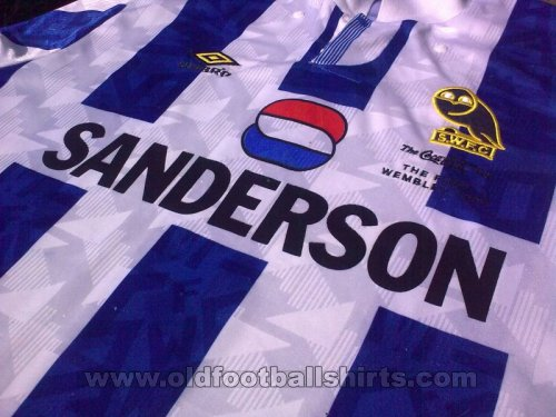 Sheffield Wednesday Cup Shirt football shirt 1993