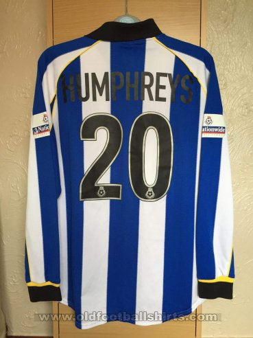 Sheffield Wednesday Home Fußball-Trikots 2000 - 2001