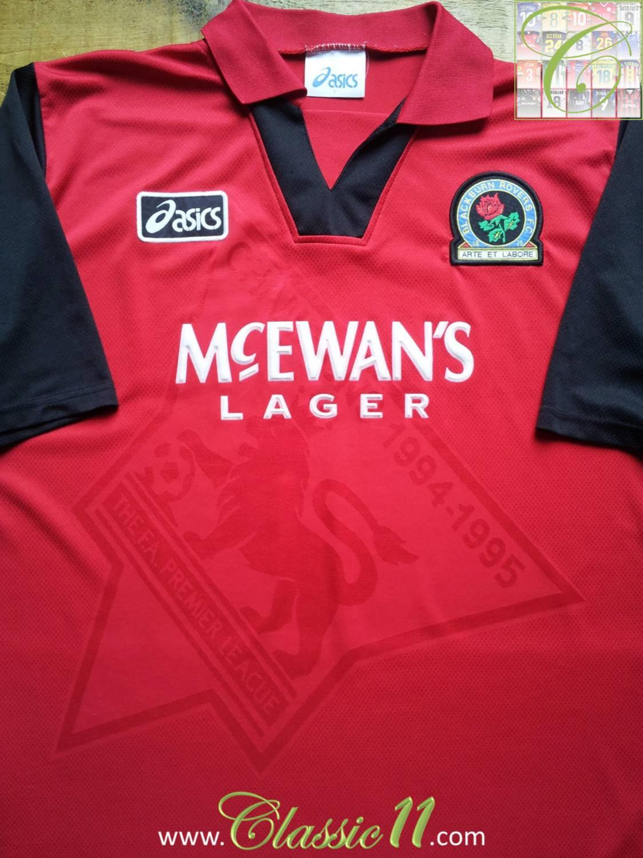 Blackburn rovers ext rieur maillot de foot 1995 1996 for Maillot exterieur