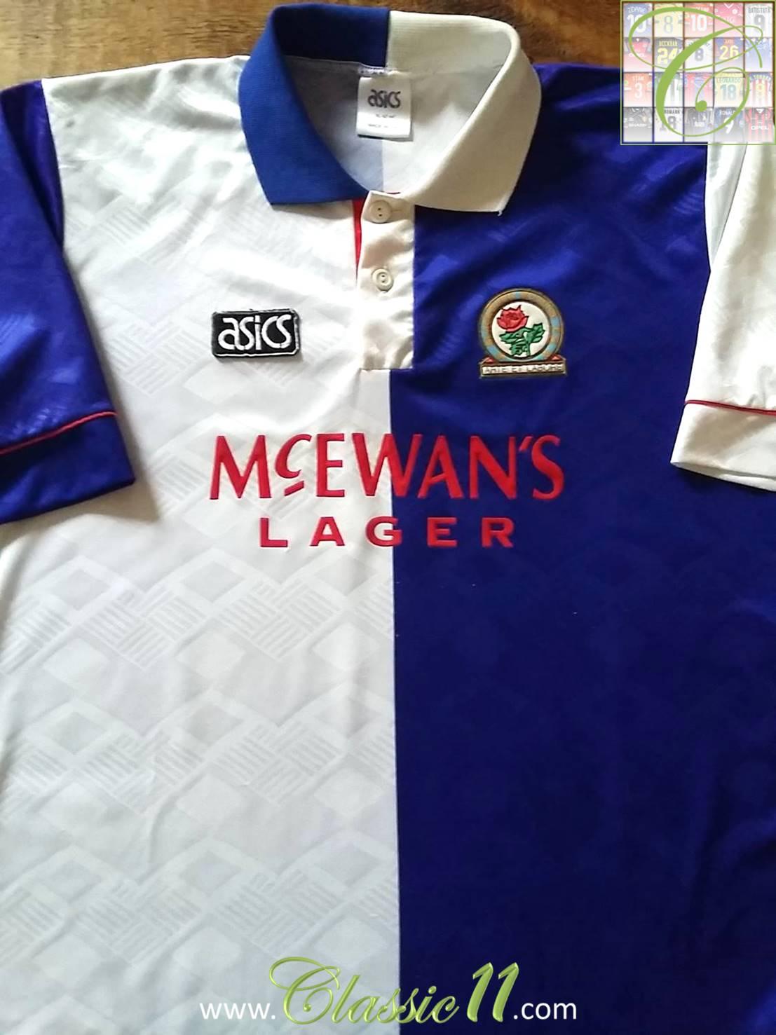 Blackburn rovers home football shirt 1992 1994 added on for Blackburn home