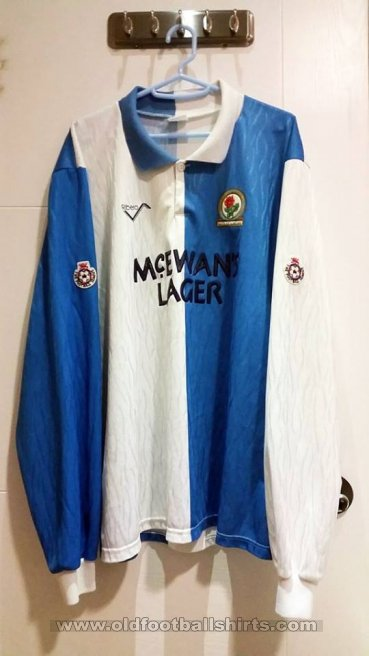 Blackburn Rovers Home baju bolasepak 1991 - 1992