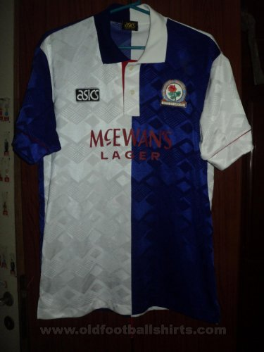 Blackburn Rovers Local Camiseta de Fútbol 1992 - 1994