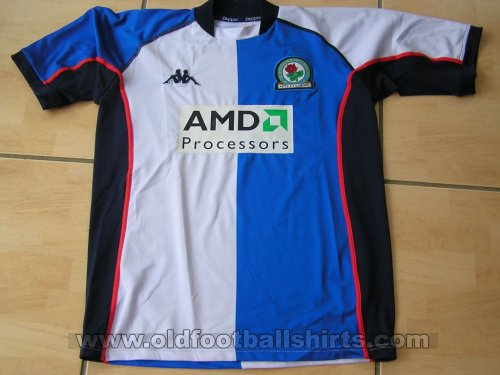 Blackburn Rovers Home Fußball-Trikots 2002 - 2003