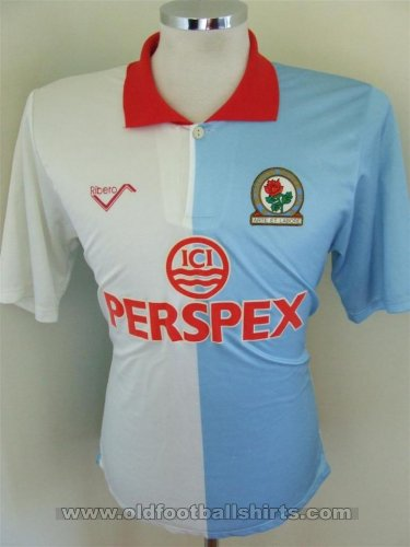 Blackburn Rovers Local Camiseta de Fútbol 1990 - 1991