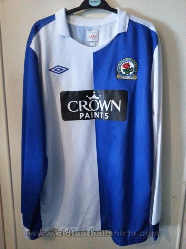 Blackburn Rovers Home football shirt 2010 - 2011