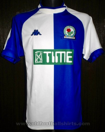 Blackburn Rovers Home baju bolasepak 2000 - 2002