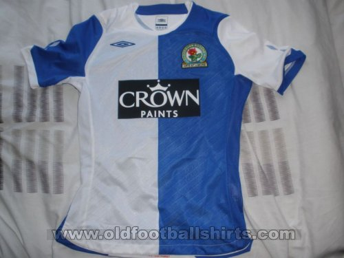 Blackburn Rovers Home Fußball-Trikots 2008 - 2009
