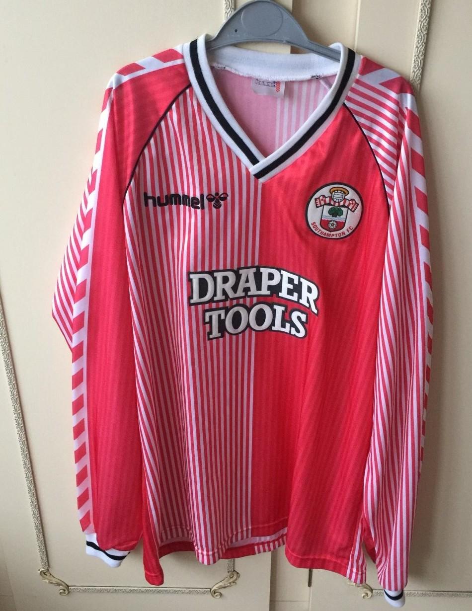 bf53f448ed6 Southampton Home חולצת כדורגל 1987 - 1989. Sponsored by Draper Tools