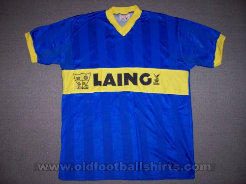 Southend United Home baju bolasepak 1985 - 1986