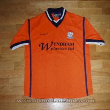 Southend United Away חולצת כדורגל 2000 - 2001