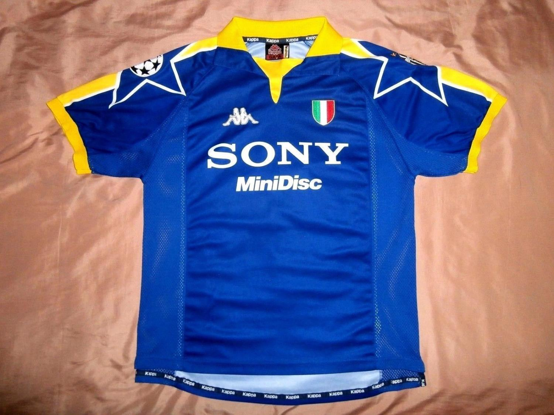 7e14b6c4863 Matchworn Alessandro Birindelly. Juventus Third Maillot de foot 1997 - 1998  ...