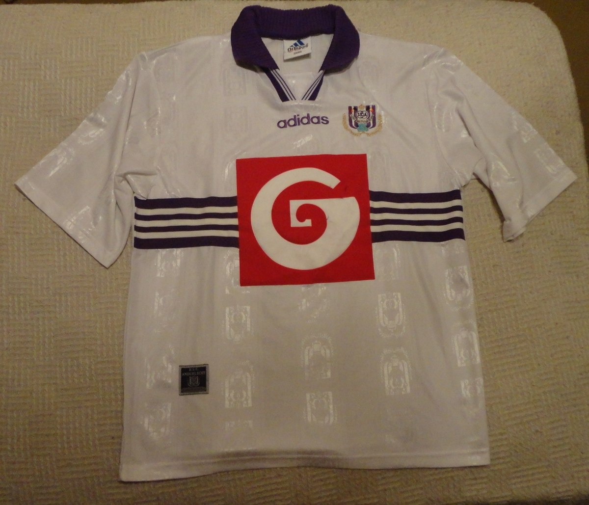 Anderlecht domicile maillot de foot 1997 1998 ajout for Classic house 1998