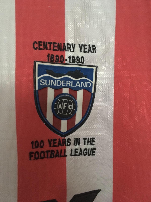 Sunderland Home maglia di calcio 1988 - 1991. Sponsored by Vaux ...