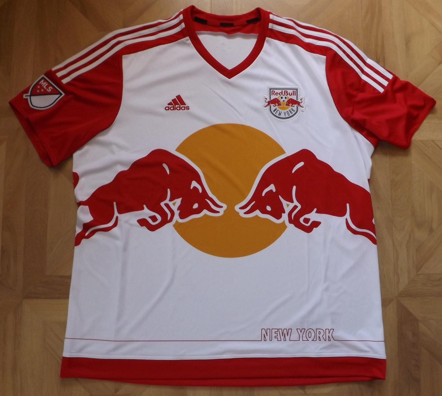 fc3e3a672 New York Red Bulls Home camisa de futebol 2015 - 2017.