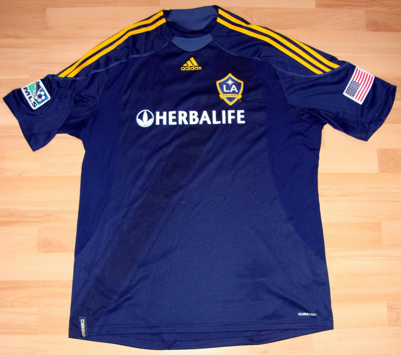 los angeles galaxy away football shirt 2009 2011 added
