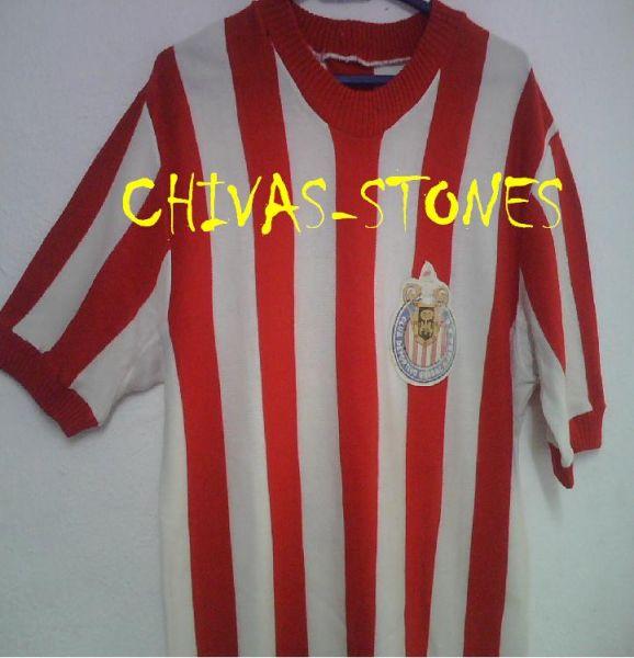 3b7f0723c74 Chivas de Guadalajara Home camisa de futebol 1962 - 1963.