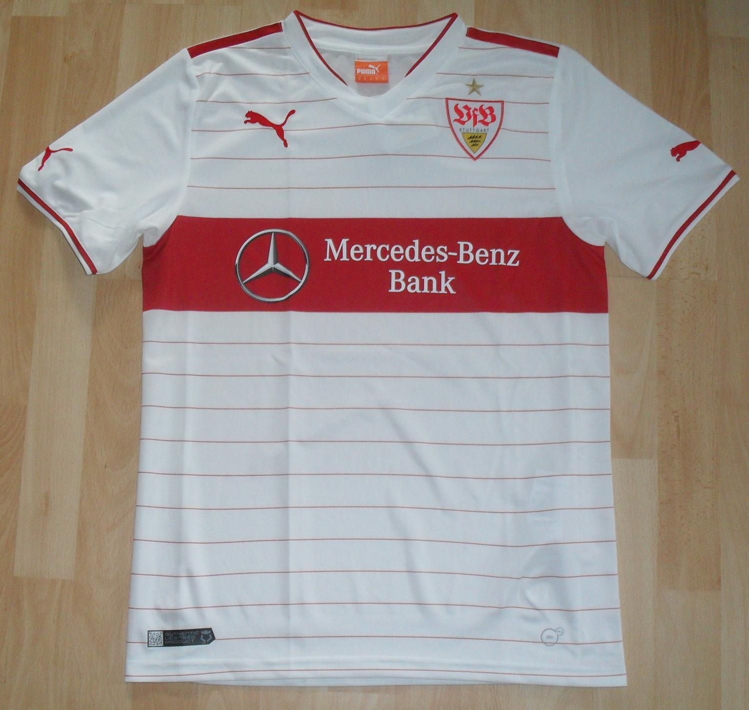 vfb stuttgart domicile maillot de foot 2013 2014 ajout 2015 08 12 08 37. Black Bedroom Furniture Sets. Home Design Ideas