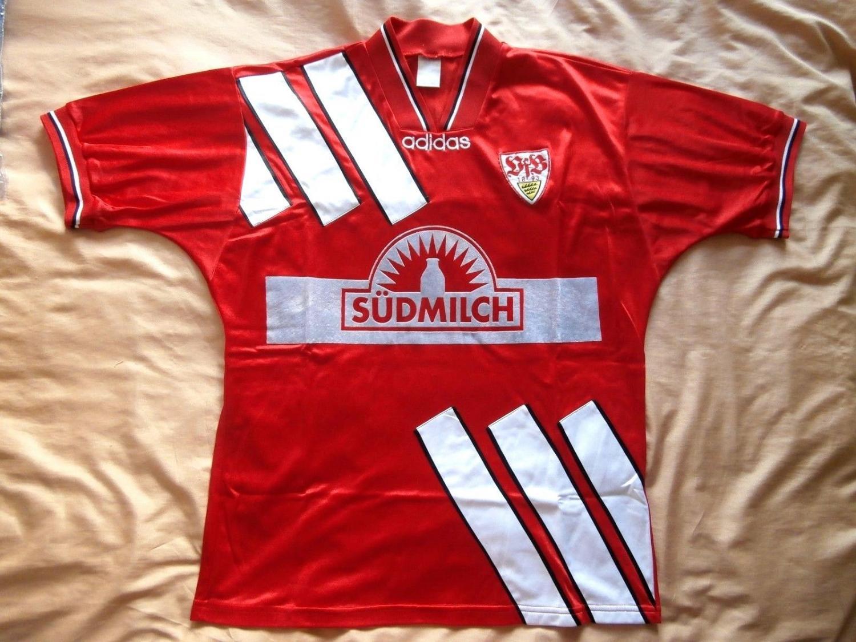 VfB Stuttgart Away Maillot de foot 1995 1996. Sponsored by