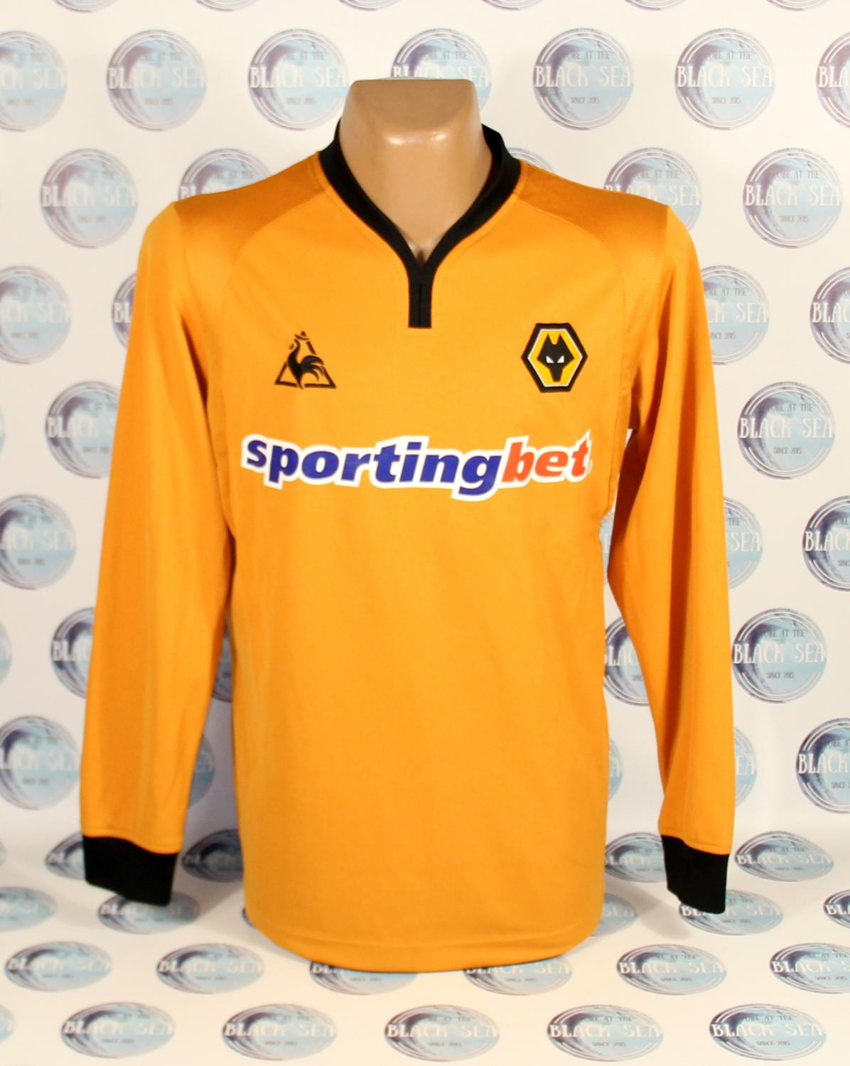 Wolverhampton Wanderers Home Maillot de foot 2009 - 2010. Sponsored ... 1ff592cd5