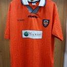 Blackpool football shirt 1997 - 1999